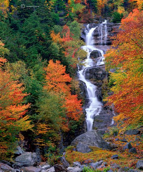 silver cascade nh new england waterfalls silver cascade autumn new hshire joseph kayne