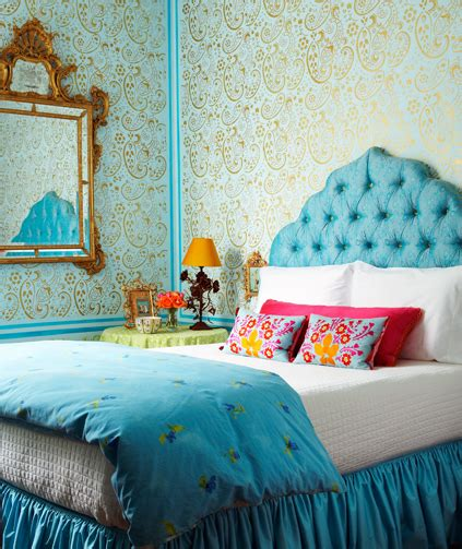 turquoise headboard turquoise headboard eclectic bedroom holly dyment