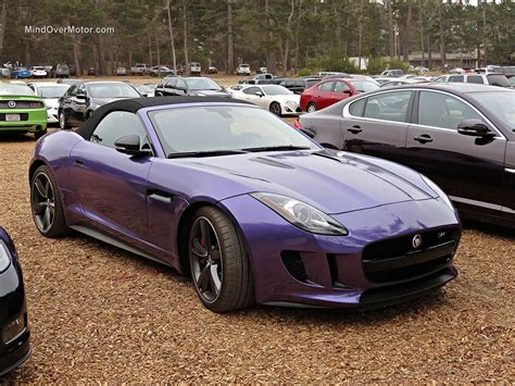 purple jaguar a purple jaguar f type r roadster spotted in pebble