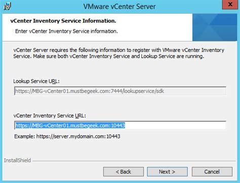 Url Lookup Vcentre 5 5 Vmware Server 2012 R2 Sql