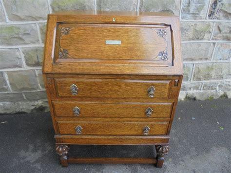 bureau qualité quality antique oak bureau sliding interior c 1910