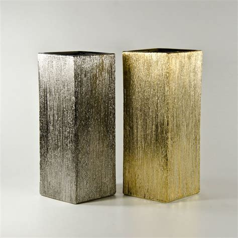 Silver Square Vase by Vases Marvellous Silver Square Vases Silver Vases