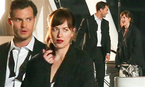 50 shades darker filming continues on luxury yacht as dakota johnson and jamie dornan film fifty shades darker