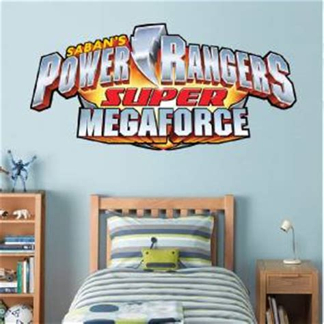 power ranger wall stickers power rangers logo megaforce decal removable wall sticker home decor ebay
