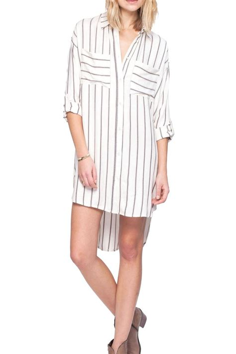 Striped Shirt Dress gentle fawn striped shirt dress from cincinnati by trend