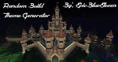theme generator minecraft random build theme generator 2 years old minecraft project
