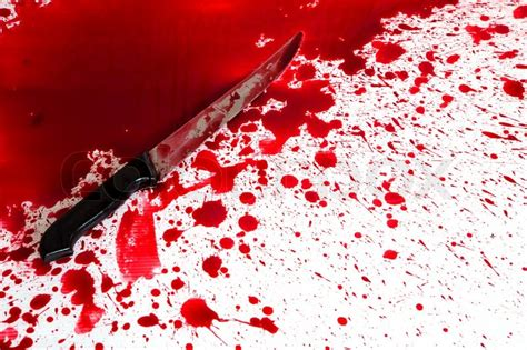 Fn Bloody concept bloody knife with blood splatter stock photo colourbox