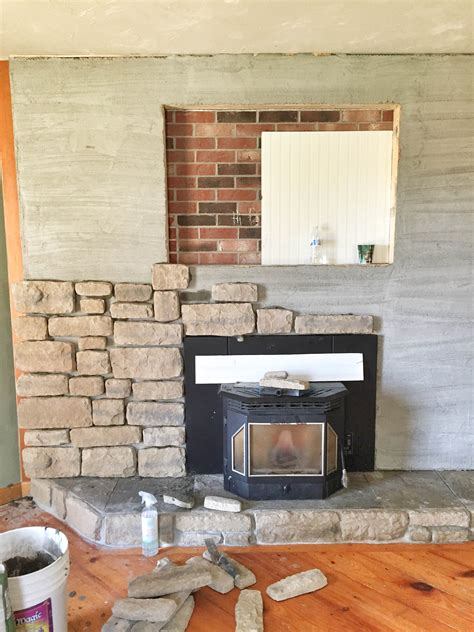 What Type Of Mortar For Fireplace by Our Brick Fireplace Makeover