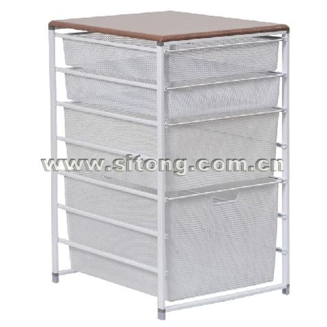 Wire Mesh Storage Drawers by China Free Standing Powder Coated Wire Mesh Drawer Laundry