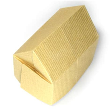 3d House Origami - how to make a 3d origami house page 15