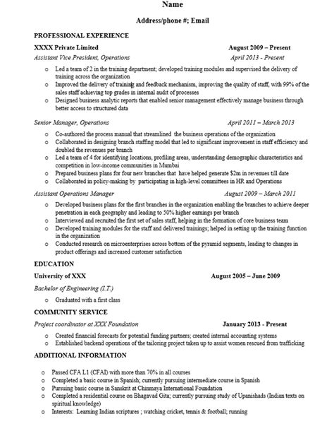 Resume Sles For Management Trainee restaurant resume sles 28 images 9 assistant manager