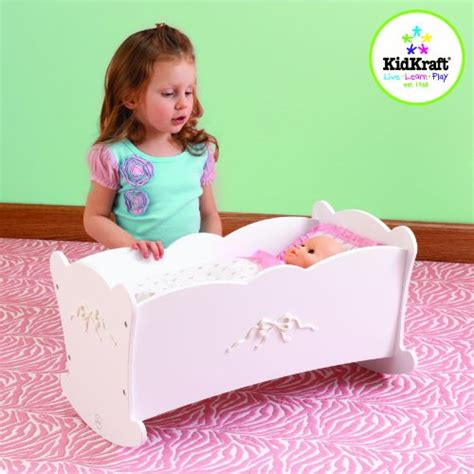 kidkraft bow wooden doll high chair kidkraft bow lil baby doll wood cradle dolls house