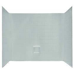54 quot x 27 quot 1 tub wall surround abs