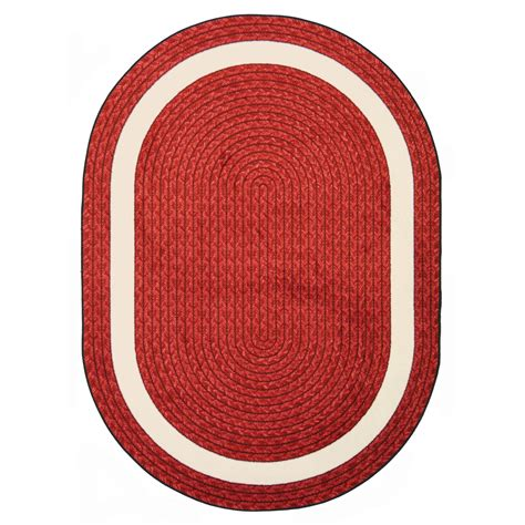 Oval Office Drapes by Joy Carpets Whimsy Sharing Circle Red Oval Rug With