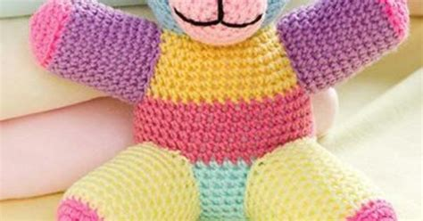 Free Patchwork Teddy Pattern - w836 crochet pattern only patchwork teddy doll