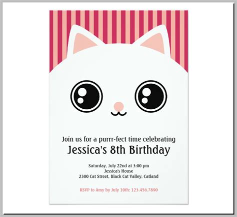 card template cat 15 themed invitation card designs templates psd