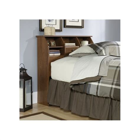 sauder twin headboard shoal creek twin bookcase headboard in oiled oak 411904