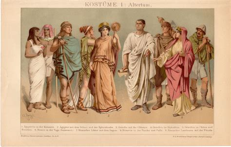 ancient greek costume history pictures showing how to recreate a 1908 ancient costumes antique print egyptian clothing