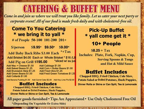 catering buffet menu ideas pictures to pin on pinterest