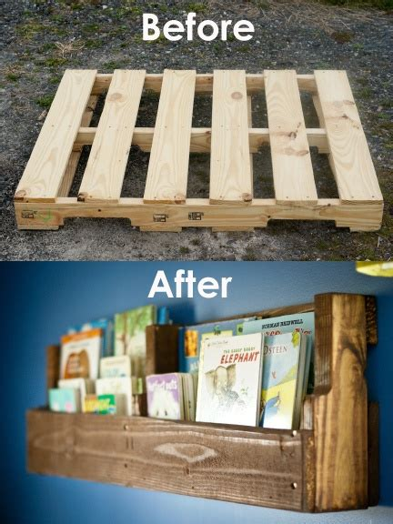 diy pallet idea pallet bookshelves diy pallet ideas