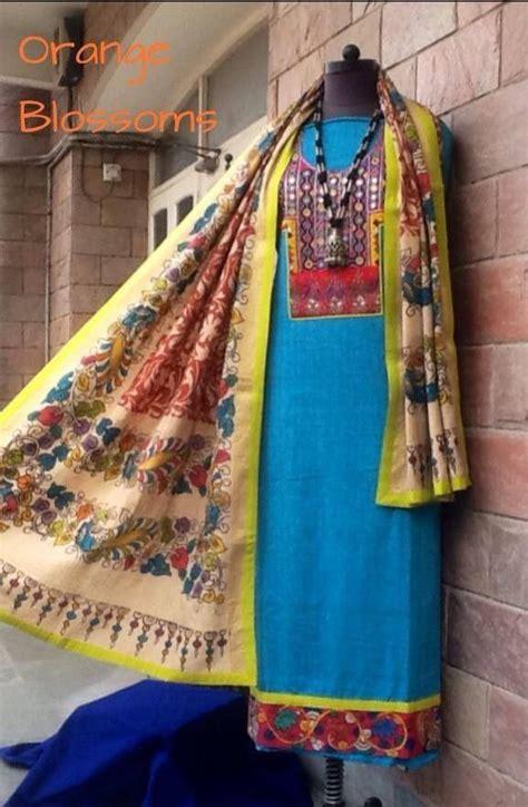 gujrati pattern kurti a beautiful kalamkari dupatta and kurta with gujarati hand