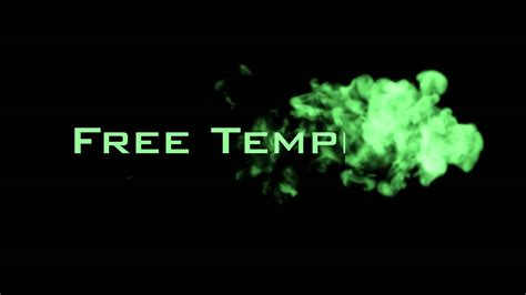 Adobe After Effects Free Smoke Intro Template Youtube After Effects Smoke Intro Template