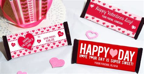 valentines cards for size bar template s day size bar wrapper set of 12