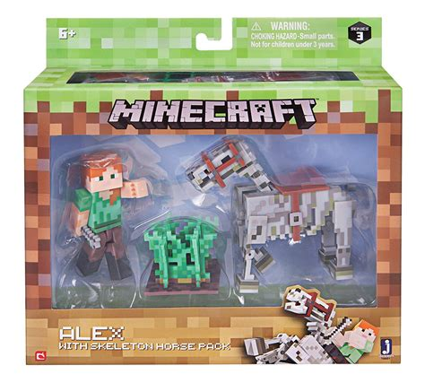 Figure Minecraft Seri 1 minecraft 3 quot figures fully articulated