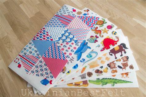 patterned felt sheets 6 printed felt sheets 25cm x 50cm 98x 196