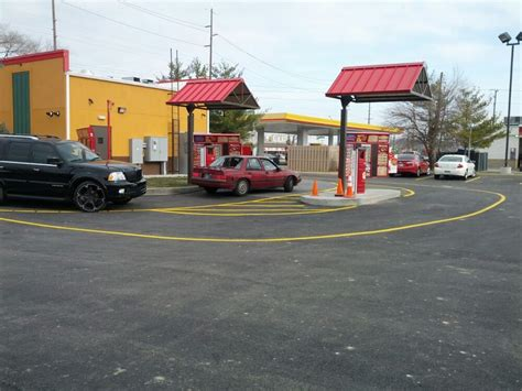 Popeyes Louisiana Kitchen Indianapolis In by A Dual Headed Drive Thru At Popeye S Yelp
