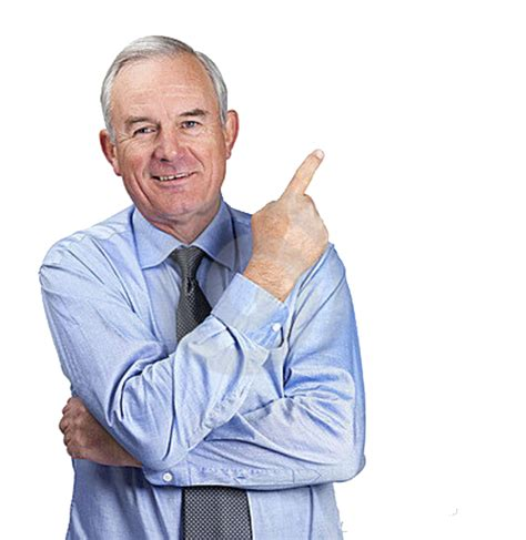 Guy Pointing Meme - senior business man pointing toward copy space 11525181