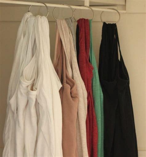 barras para colgar cortinas reutiliza los ganchos de cortinas de ducha para colgar