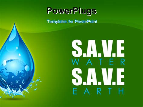 Illustration Of Earth In Water Drop Showing Save Water Save Water Powerpoint Presentation Free
