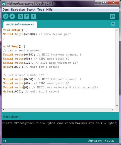code arduino music music and electronics midi from ardiuno to
