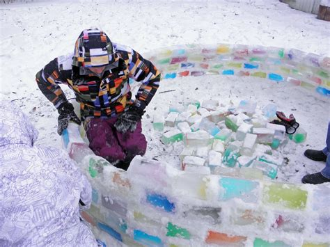 how to build an igloo in your backyard builds amazing igloo using frozen milk cartons