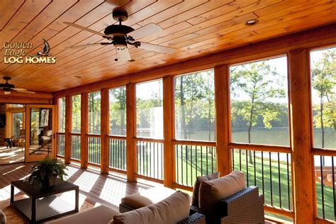 cabin floor plans with screened porch log home plans with screened porch