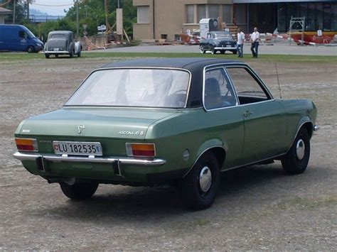 Opel Ascona A 1970 1975 1 6 S Sedan 2d Right Rear View