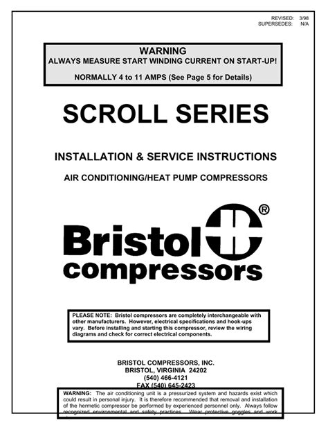 wiring diagram for bristol compressor wiring diagram