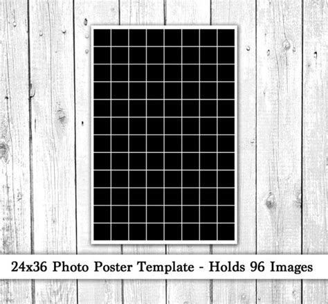24x36 Photo Template Photo Collage Poster Template 24x36 Poster Template