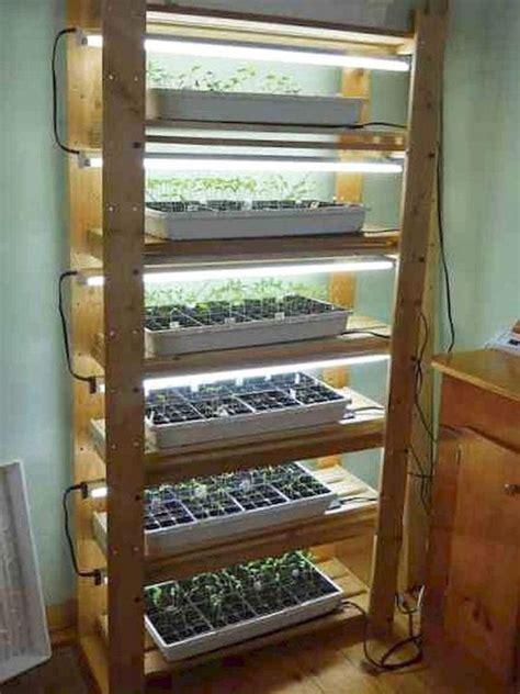 diy grow light shelving system  garden
