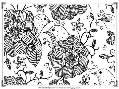 coloring books for adults birds printable birds coloring pages for adults realistic