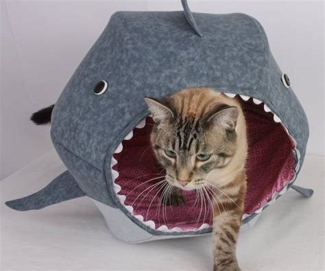 shark bed for cats cat shark bed cat bed celebrating shark week 187 gadget flow