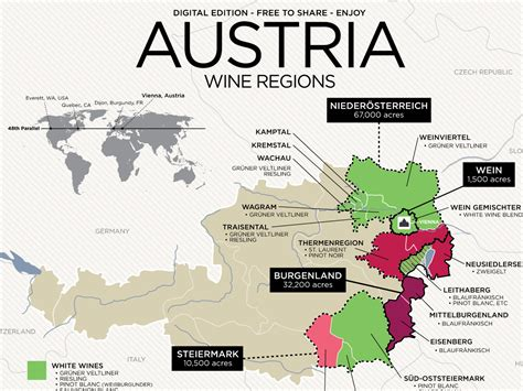 austria regions map get to austrian wine with map wine folly