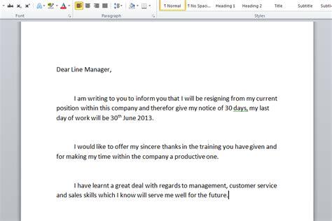 Simple resignation letter write a resignation letter