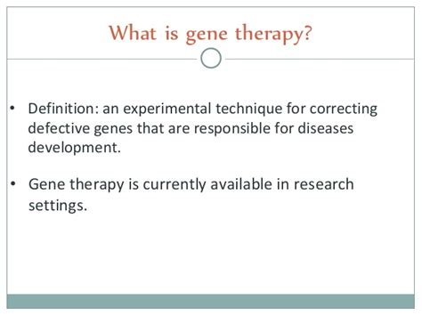 therapy definition gene therapy