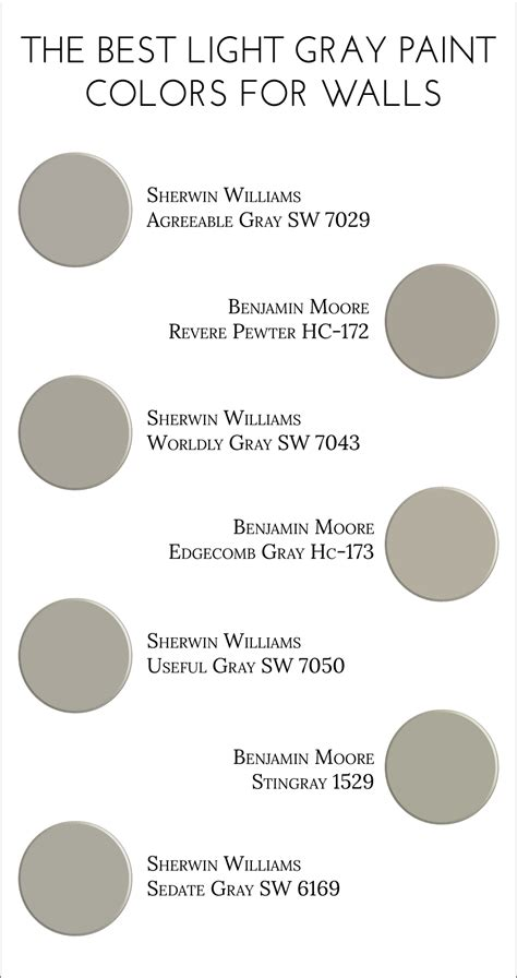 best grey color for walls the best light gray paint colors for walls light grey