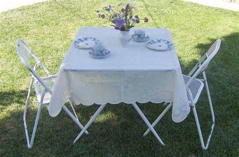 52 square table cloths two vintage 52 quot square plastic lace tablecloths