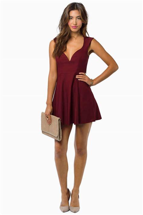 Dress Valentina valentina burgundy skater dress 22 tobi us