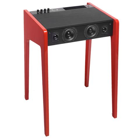 This Laptop Desk Features A Built In Sound System Laptop Desk With Speakers