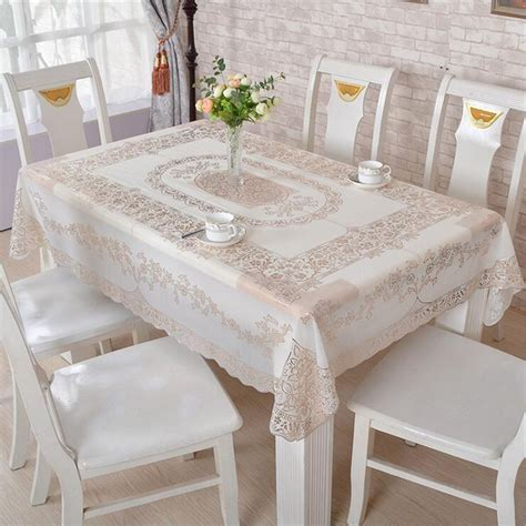 Pvc Waterproof Dining Table Cloth Coffee Table Cover Desk Dining Table Cover Protector